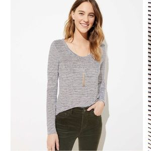 NWT Loft vintage soft striped shirt. Size XS